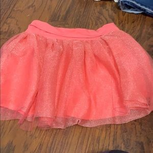 Gymboree Tulle skirt coral color